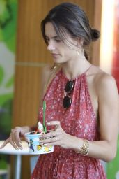 Alessandra Ambrosio at Whole Foods Market in Brentwood, CA 8/30/2016