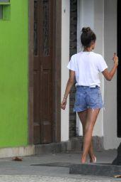 Alessandra Ambrosio in Jeans Shorts - Rio de Janeiro 8/5/2016