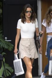 Alessandra Ambrosio Summer Style - Out in West Hollywood 8/22/2016