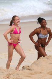 Aly Raisman, Simone Biles & Madison Kocian in Bikinis at a beach in Rio de Janeiro 8/20/2016