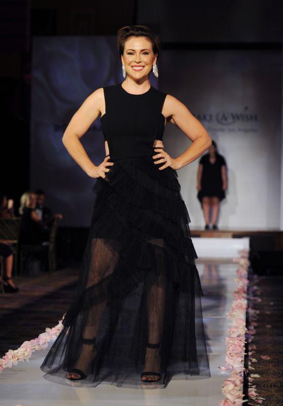 Alyssa Milano – BCBG Make-A-Wish Fashion Show in Los Angeles 8/24/2016