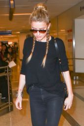 Amber Heard Travel Outfit - LAX 8/12/2016