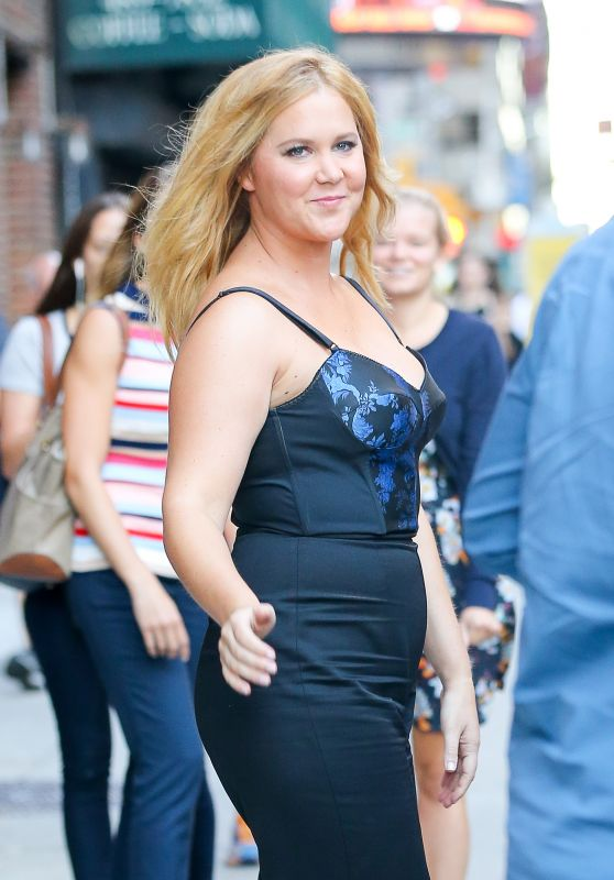 Amy Schumer at The Late Show in New York City 8/22/2016