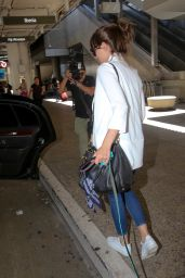Ana de Armas Travel Outfit - LAX Airport in Los Angeles 8/31/2016