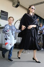 Angelina Jolie at LAX Airport in Los Angeles, June 2016