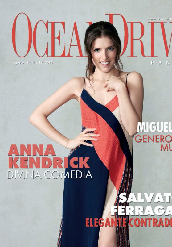 Anna Kendrick - Ocean Drive Magazine Panama August - September 2016 Issue
