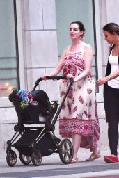 Anne Hathaway - Out With Husband & New Baby Boy - NYC 8/16/2016