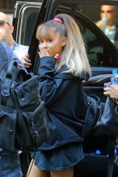 Ariana Grande - Going to Rehearse for Her VMA Performance in New York City 8/26/2016