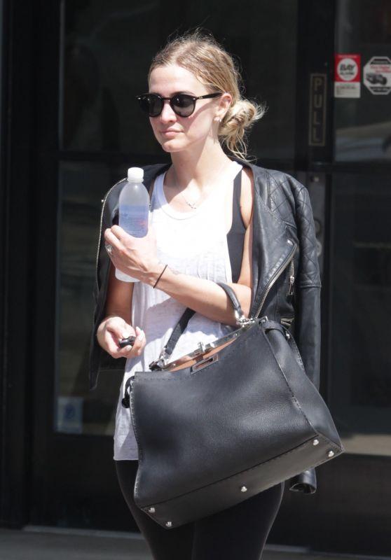 Ashlee Simpson - Leaving a Gym in Studio City 8/5/2016
