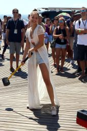 Barbara Palvin – Sports Illustrated Summer of Swim Fan Festival at Coney Island, NY 8/28/2016