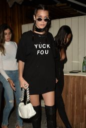 Bella Hadid in Yuck Fou T-Shirt - Leaving The Nice Guy in West Hollywood 8/3/2016