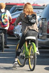 Bella Thorne - Riding Bike Around Los Angeles 8/13/2016