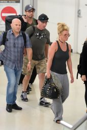Britney Spears at Newark Airport in New Jersey 8/25/2016
