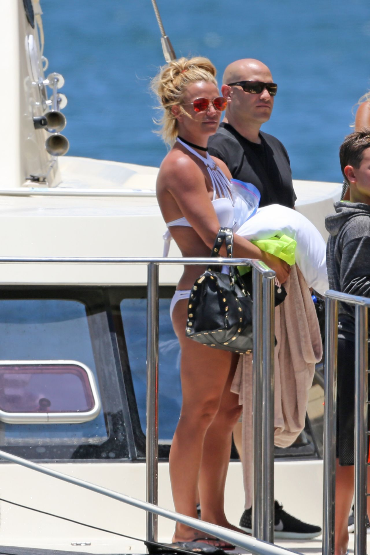 Britney Spears in a Bikini on a Boat in Hawaii 8/6/2016