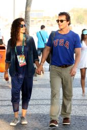Camila Alves and Matthew McConaughey - Lunch at Arpoador Beach in Rio de Janeiro 8/9/2016