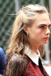 Cara Delevingne - Arriving in GMA Studio in New York City 8/1/2016