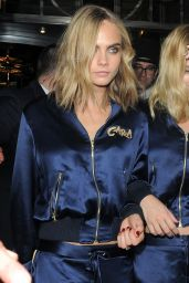 Cara Delevingne & Margot Robbie - Out Partying in Matching Tracksuits 08/04/2016
