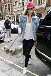 Cara Delevingne - Out With Her Dog in London, August 2016