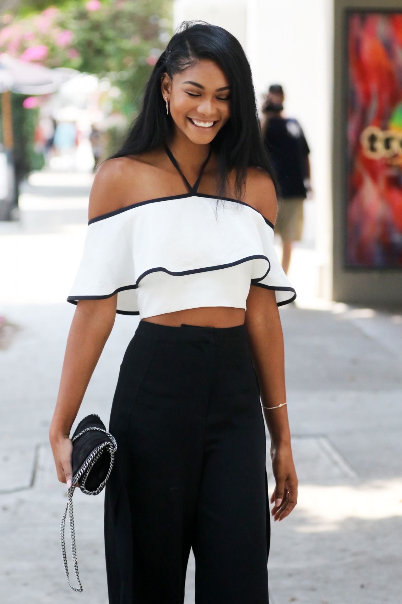 Chanel Iman Style Leaves A Restaurant In West Hollywood