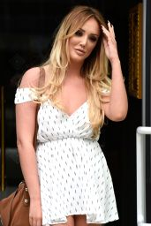 Charlotte Crosby at Menagerie Restaurant in Manchester, UK, August 2016