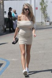 Charlotte McKinney Hot in Summer Mini Dress - Malibu 7/31/2016
