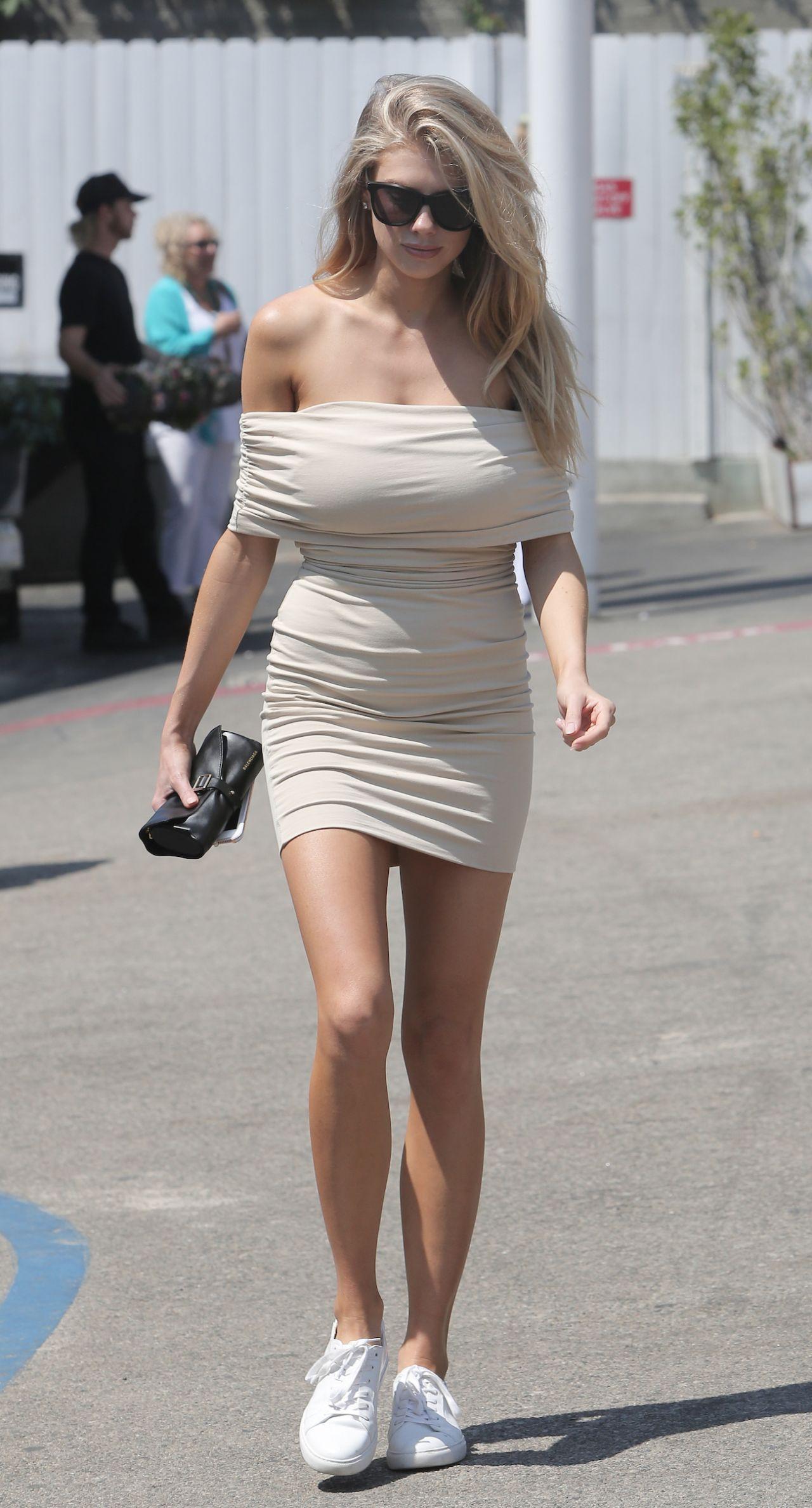 Charlotte Mckinney Hot In Summer Mini Dress Malibu 7 31 2016