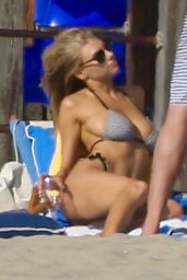 Charlotte McKinney in Bikini at Beach With Sister Garland McKinney in Santa Monica 8/27/2016