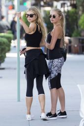 Charlotte McKinney in Leggings - Los Angeles 8/4/2016