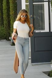 Charlotte McKinney in Tight Jeans - Out For a Coffee Run in West Hollywood 8/10/2016