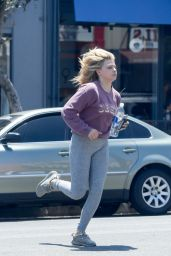 Chloe Moretz at a Salon in Los Angeles 8/10/2016