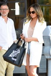 Chrissy Teigen -Leaving Meche Salon in Beverly Hills, August 2016