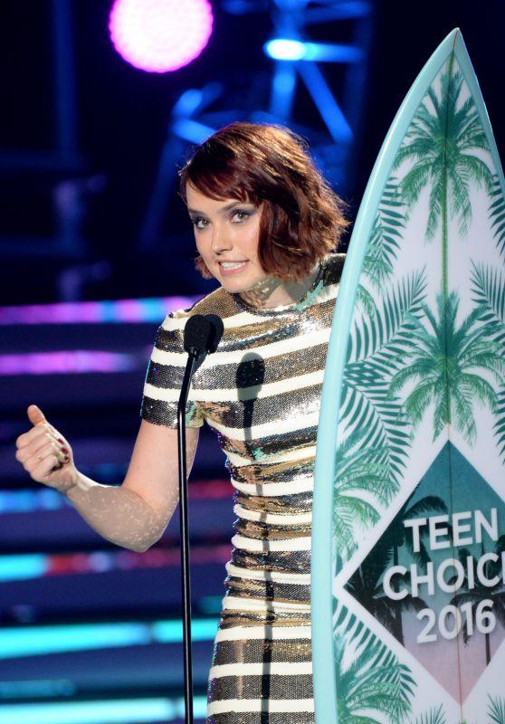 Daisy Ridley – Teen Choice Awards 2016 in Inglewood, CA