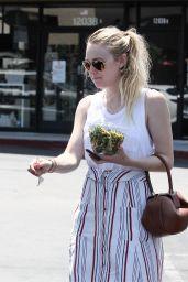 Dakota Fanning - Leaves a Friends House in Los Angeles 08/05/2016