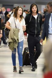 Danielle Campbell at JFK Airport in NYC 8/19/2016