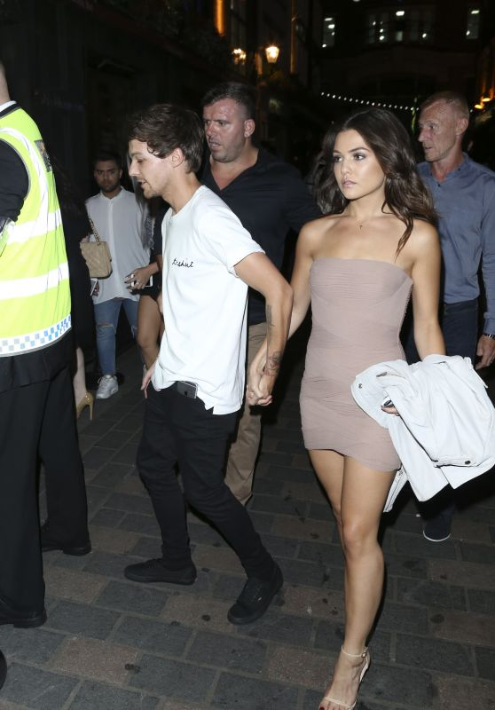 Danielle Campbell & Louis Tomlinson - Leaving Cirque le Soir in London 8/24/2016