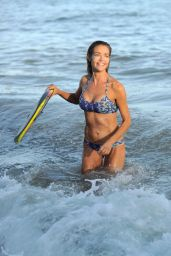 Denise Richards in a Bikini at a Beach in Los Angeles, July