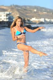 Denise Richards in Bikini on the Beach, Malibu 8/8/2016