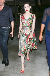 Dita Von Teese - Arriving at the Adele Concert in Los Angeles. 8/10/2016