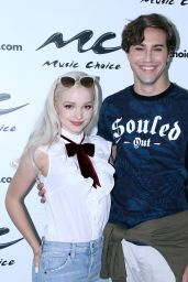 Dove Cameron at Visits Music Choice Studio in New  York city 7/29/2016