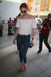 Eleanor Tomlinson - BBC Radio One Studios in London 8/31/2016