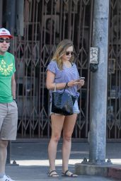 Elizabeth Olsen Leggy in Shorts - Hollywood 8/7/2016