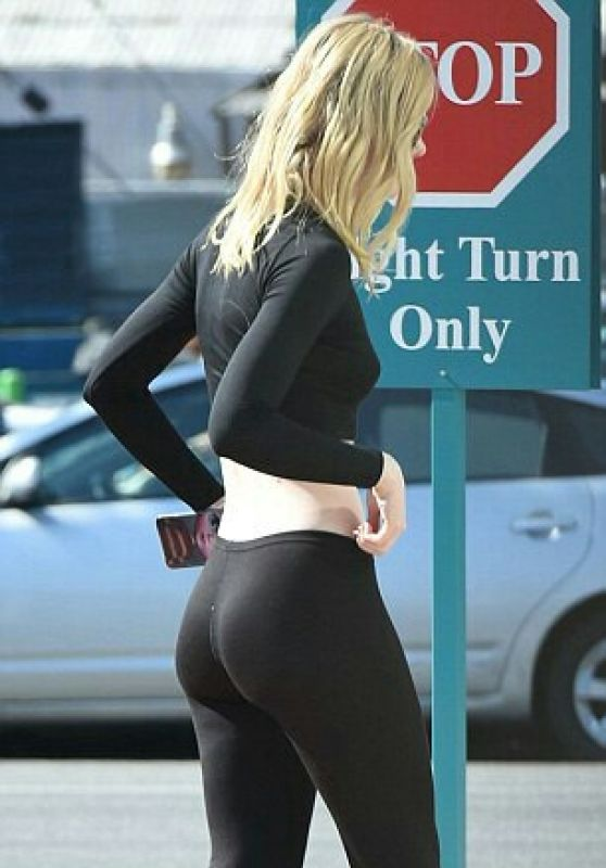 Elle Fanning in Tights - Out in Los Angeles, August 2016