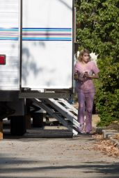 Emma Roberts at Scream Queens Set in LA 8/5/2016