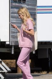 Emma Roberts at Scream Queens Set in LA 8/5/2016