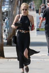 Emma Roberts Chic Outfit - Out in LA 8/25/2016