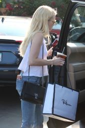 Emma Roberts Street Style - Shopping in West Hollywood 8/20/2016
