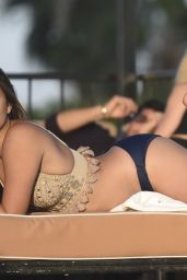 Ferne McCann Bikini Pics - Lounges by the Pool in Los Angeles 8/12/2016