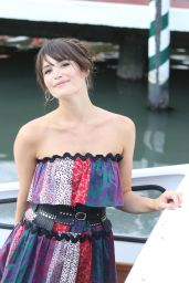 Gemma Arterton - Boarding a Private Water Taxi in Venice 8/30/2016