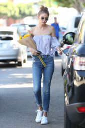 Gigi Hadid in Jeans - Out in Los Angeles 8/10/2016