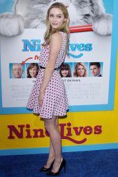 Greer Grammer – 'Nine Lives' Premiere in Hollywood 8/1/2016